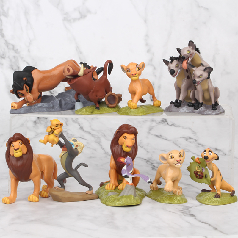 9pcs/Set The Lion King Simba Nala Timon Model Figure Action Figures Classic Children Toys Best Christmas Gifts image
