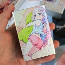 Animacja produkty powiązane akcesoria Anime prezent givway aluminiowy przesuwny papierośnica Case dla człowieka zdjęcie niestandardowe zdjęcie