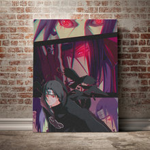 Itachi uchiha akatsuki naruto аниме деревянная рамка холст постер