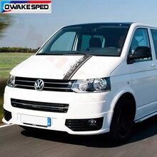 1set Auto Haube Abdeckung Motor Aufkleber Für Volkswagen Multivan T4 T5 T6 Bonnet Stripes Vinyl Aufkleber Auto Körper dekor Aufkleber