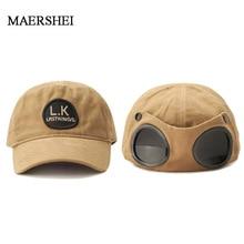MAERSHEI унисекс хлопок бейсбольная шапка с очками дизайн Snapback крутые головные уборы для мужчин и женщин хип хоп кепка папа шляпа