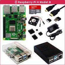 Raspberry Pi 4 2GB/4GB/8GB RAM + Fall + Karte + Power Adapter + lüfter + Kühlkörper + Video Kabel für Raspberry Pi 4 Modell B