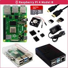 Raspberry Pi 4 Model B 2GB/4GB/8GB RAM + Case + SD Card + Power Adapter + Cooling Fan + Heatsink + HDMI Cable for Raspberry Pi 4