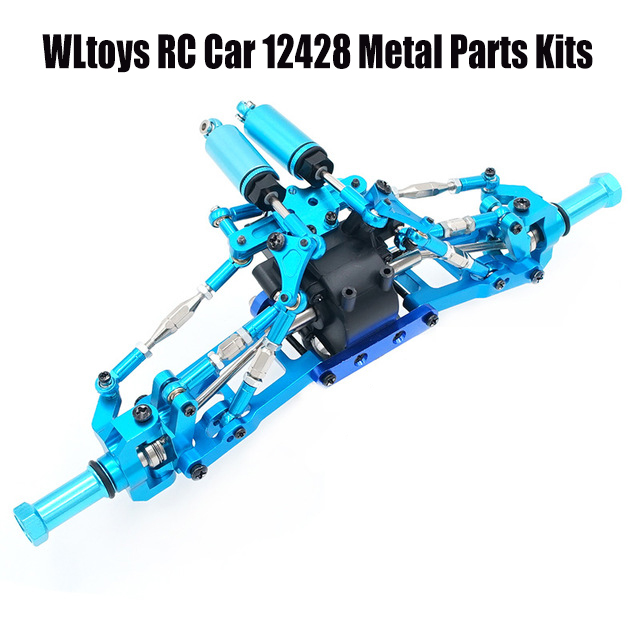 Wltoys RC Car Spare Parts Upgrade Metal Alloy Parts Kits Swing Arm/Base C/Pull Rod Kits/Suspension/Differential For 12428/12423