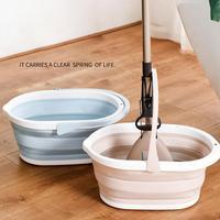 Складное пластиковое ведро для швабры, портативная ванна для умывальника, для ног, складная посуда, кухонные принадлежности для бытовой убо...