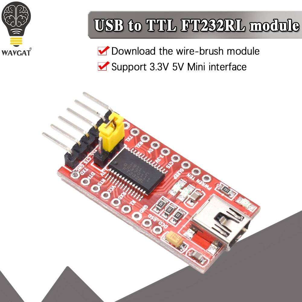 Модуль последовательного адаптера WAVGAT FT232RL FTDI USB 3,3 В 5,5 В в TTL для мини-порта Arduino FT232. Покупайте хорошее качество, пожалуйста, выбирайте меня