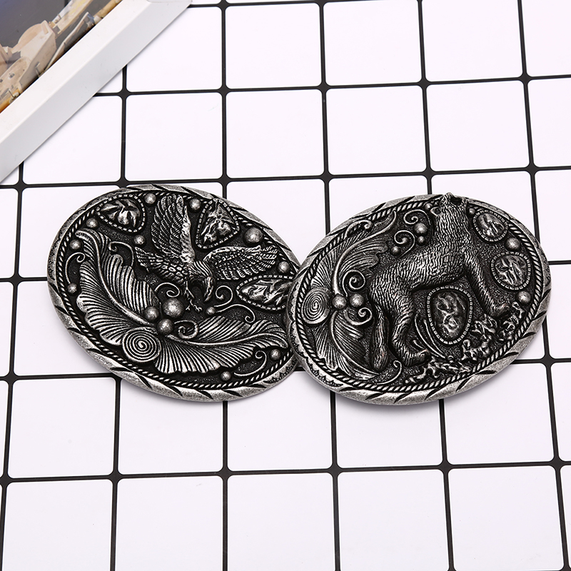 Wolf Metal Cool Belt Buckles For Man Unisex Western Fashion Buckle Cowboys Cowgirls Paracord Buckle