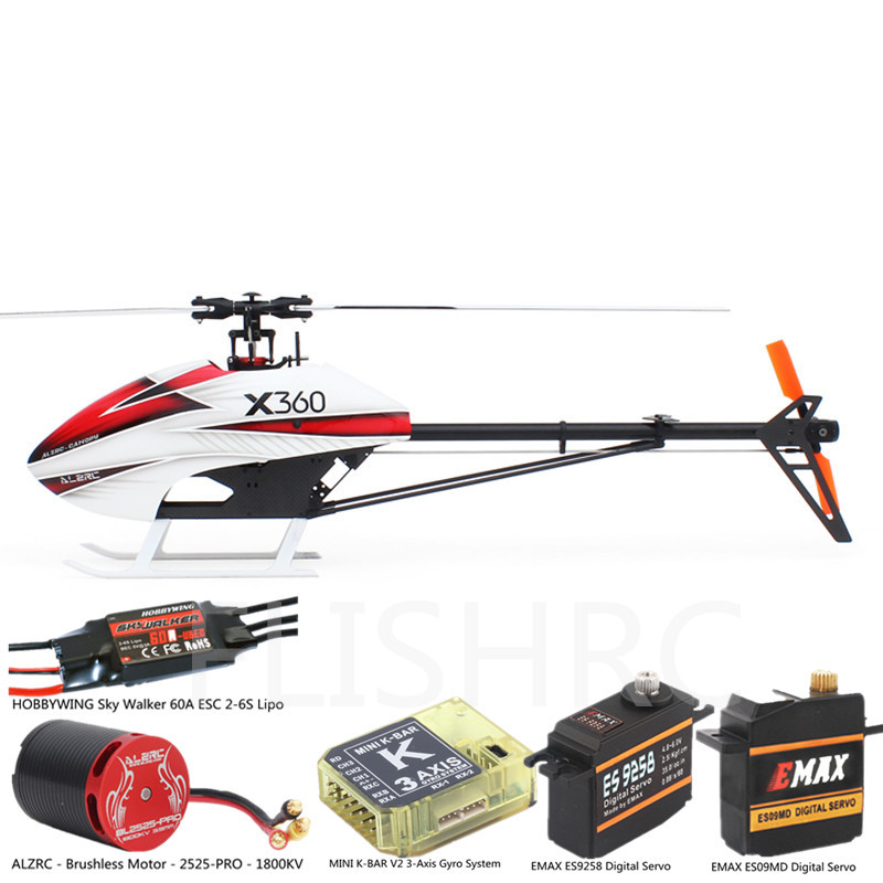 ALZRC - Devil X360 FBL Super Combo KIT Frame RC Helicopter Airplane For GAUI X3