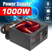 Fan PSU Power-Supply 1000W Computer PC ATX 24pin SATA Gaming Max 12V for Intel AMD Silver