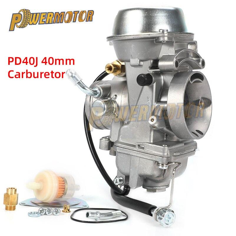 Карбюратор PD40J, 40 мм, 4-тактный карбюратор для мотоцикла POLARIS SCRAMBLER 500 дюйма, 4x4, универсальный, от 400cc до 600cc, гоночный двигатель ATV