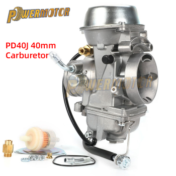40mm PD40J Carburetor 4 Stroke Motorcycle Carb For POLARIS SCRAMBLER 500 4X4 Universal 400cc to 600cc Racing Motor ATV 40mm pd40j 4 stroke motorcycle carburetor vacuum carburetor case atv quad carb for polaris scrambler 500 4x4 sportsman 500 worke
