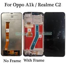 Оригинальный черный экран 6,1 дюйма для Oppo A1k CPH1923 / Oppo Realme C2 RMX1941 RMX1945, ЖК дисплей, кодирующий преобразователь сенсорного экрана в сборе