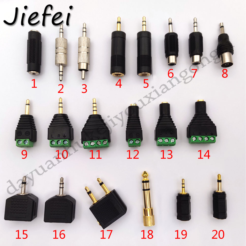 20 types of 3.5mm adapter Audio plug 1/8