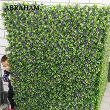 60x40cm Plastic Leaves Artificial Plant Wall Green Grass Fake Leafs Wall False Lawn Big Flower Row For Wedding Garden Home Decor цена и фото