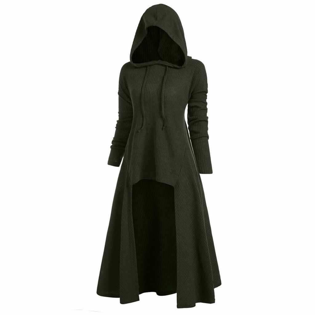 Winter Pullover Frauen Mode Mit Kapuze Plus Größe Vintage Mantel Hohe Pullover Bluse Tops Harajuku pullover pull femme Dropshipping