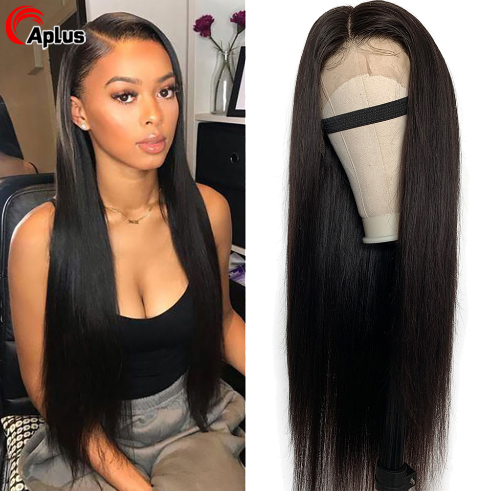 Aplus Glueless Wigs Brazilian Remy Human Hair Lace Front Wig 13x4 Long Lace Hair Wigs For Black Women Pre Plucked With Baby Hair