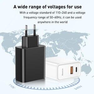 Image 5 - Chargeur rapide USB double Baseus 30W prise en Charge rapide 4.0 3.0 chargeur de téléphone Portable USB C PD chargeur QC 4.0 3.0 ForXiaomi