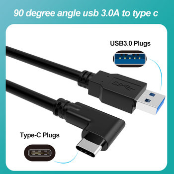 3M 10feet USB-C 5M 3D VR Headset USB3.2 Gen1 for Oculus Quest Link Cable right angle type-c Speed 5GB Data Transfer Fast Charge