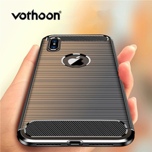 Vothoon Fiber Protective Case For iphone Xs Max Xr Silicon Shockproof Cover 8 7 6s Plus