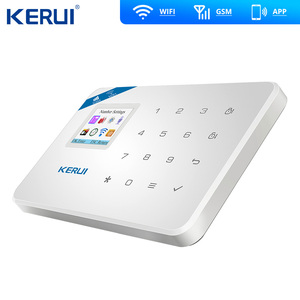 Image 2 - KERUI W18 WIFI GSM Sms のホーム盗難セキュリティ警報システムカーテンモーションセンサーワイヤレスソーラーサイレン IP 屋内カメラ