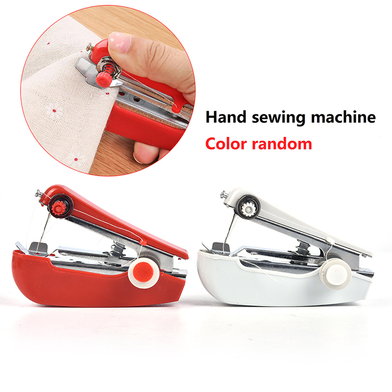 Портативная мини ручная швейная машина, простые в эксплуатации швейные инструменты, швейная ткань, удобный инструмент для рукоделия, 1 шт.