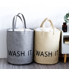 Laundry Basket Storage 42*33cm Beam Mouth Kids Toy Washing Dirty Clothes Sundries Bathroom Accessories