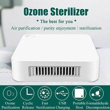 Озоновый генератор, дезодорирующий портативный очиститель воздуха, USB Перезаряжаемый озоновый стерилизатор, машина для дезинфекции воздух...