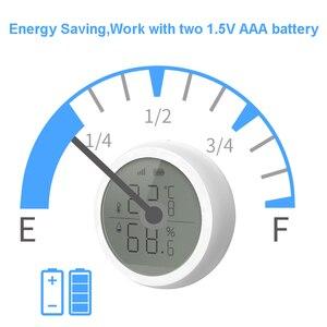 Image 3 - Tuya Zigbee Temperatur und Feuchtigkeit Sensor mit LCD Screen Display Mit batterie Home automation szene sicherheit alarm sensor