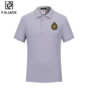 Image 4 - F.N.JACK Polo à manches courtes pour homme, modèle tendance classique en coton, couleur unie, été, décontracté