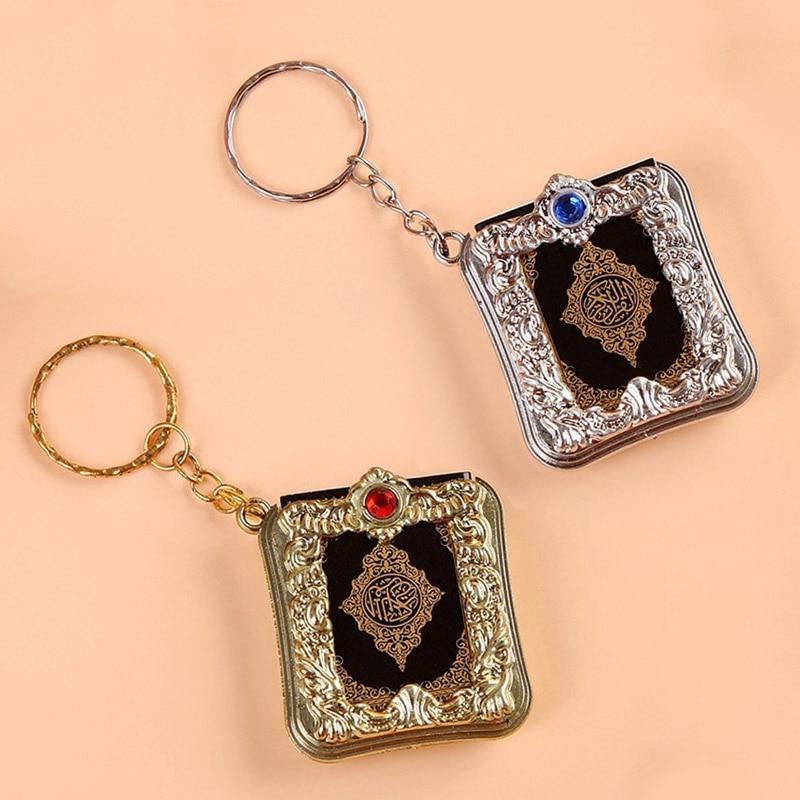Ark Quran Book Can Read Keychain Muslim 1PC Islamic Real Paper Popular Religious Key Chain High Quality Mini Pendant Key Ring