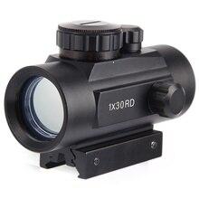цена на Tactical 1X30 Red Green Dot Sight Scope Holographic Riflescope Optics Scope For Hunting Airsoft Shotgun 11 20mm Air Rifle Scope