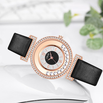 LINJIE Watches for women luxury diamond Fashion Simple Flow Bead Dial Leather Band Ladies Quartz Watch Clock Relogio Feminino W3 1 pair couple lover watches quartz dial clock pu leather wristwatch relojes watch women men fashion luxury relogio feminino saat