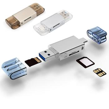 USB 3.0 card For Huawei NM card reader type-c computer two in one zinc alloy TF / NM card multi drive letter for Laptop флешка