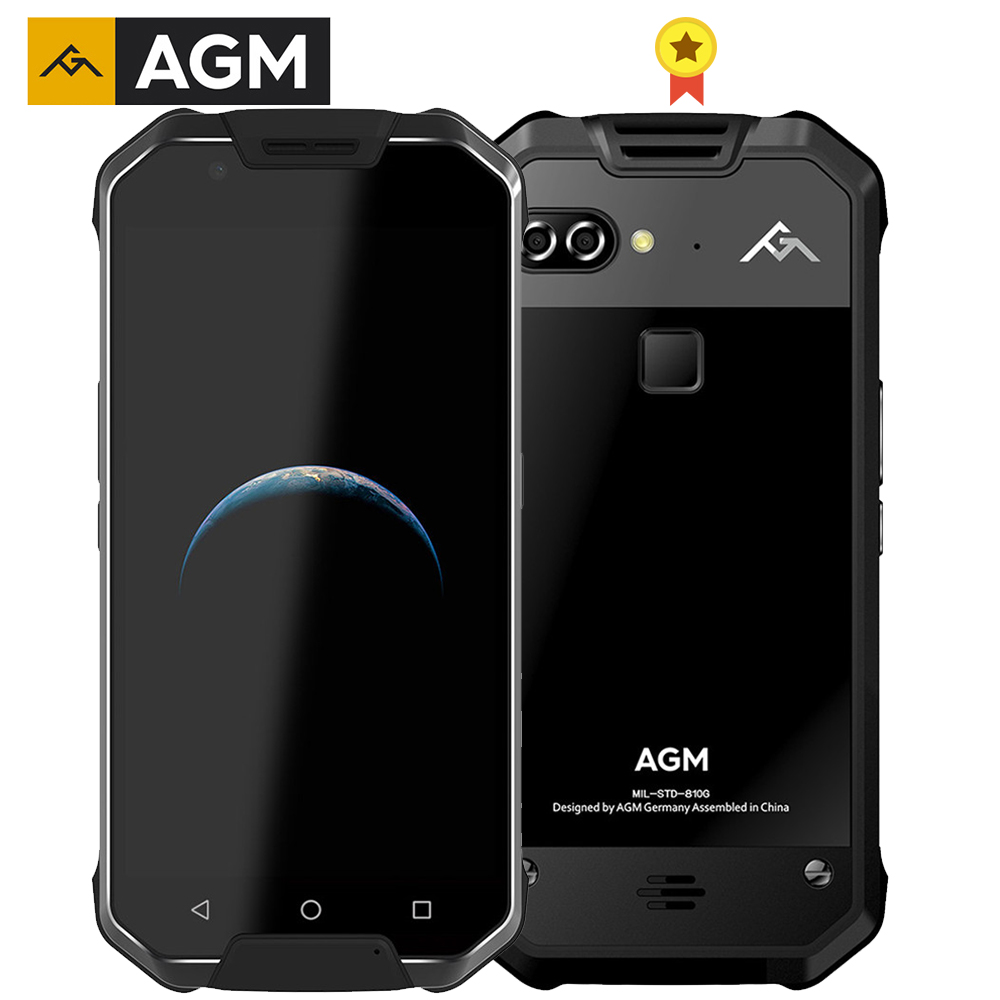 """AGM X2 SE IP68 Rugged Phone Android 7.1 Rear Dual 12MP Front 16MP 6G 64G MSM8976SG Octa Core 5.5""""AMOLED Screen LTE Mobile Phone"""