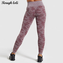 Nieuwe Camo Naadloze Leggings Hoge Taille Yoga Broek Workout Gym Leggings Energie Yoga Legging Butt Scrunch Panty Sport Legging(China)