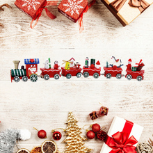 6 Little Christmas Wood Train Painted Toys Home Window Decoration with Santa Xmas tree kid gift ornament navidad new year gift все цены