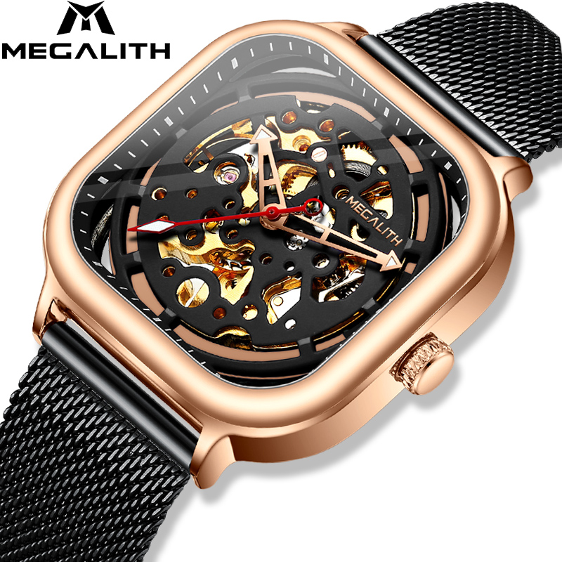 MEGALITH 2019 New Arrivals Top Brand Automatic Mechanical Watch Men Fashion Casual Waterproof watch Man Clock Relogio Masculino