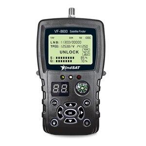 Image 3 - VF 8600 Satellite Finder For Satellite TV Receiver Satfinder With Compass sat Finder Full support DVB S/DVB S2/MPEG 2/MPEG 4