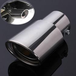 Uniwersalne stal nierdzewna stalowe chromowane tylne tylne proste okrągłe tłumik do rury wydechowej|Kolektory spalin|Samochody i motocykle -