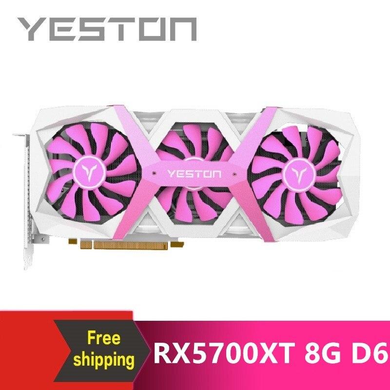 Yeston Radeon RX5700XT GPU 8G/256bit/DDR6/7nm PCI Express x16 3.0 video gaming graphics card HDMI+3*DP for desktop 1