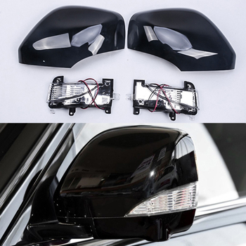 For Nissan PATROL Y62 2010- 2016 Car Rear View Rearview Mirror Cover Shell Replacement With LED Turn Signal Light Modified
