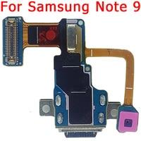 Placa de carregamento usb original para samsung nota 9 porto de carregamento para galaxy note 9 cabo flexível pcb doca conector peças de reposição