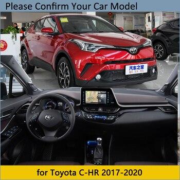 Capa de painel almofada protetora para toyota C-HR 2017 2018 2020 chr c hr acessórios do carro traço placa pára-sol tapete dashmat