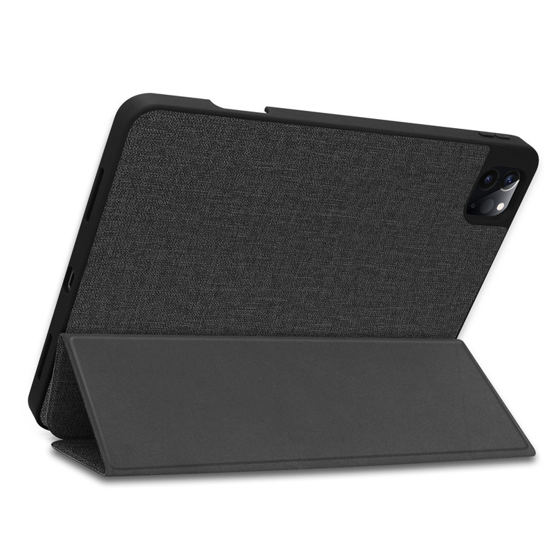 Case 2020 Soft TPU Textured With Pencil Pro 11 + For iPad Holder Stand Cloth Smart Funda