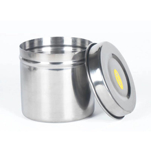 Stainless Steel Alcohol Disinfection Box Tattoo Medical Cotton Container Tank Nails Accessories