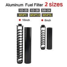 חדש 1/2 20 1/2 28 5/8 24 6 אינץ 10 אינץ ליבה אחת אלומיניום דלק מסנן ממס מלכודת עבור נאפה 4003 ויקס 24003