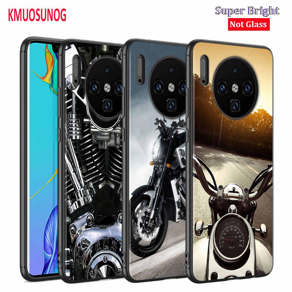 שחור כיסוי moto צלב moto rcycle עבור Huawei Mate 30 (5G) 20 20X10 לייט Y9 Y7 Y6 Y5 פרו ראש 2019 2018 טלפון מקרה
