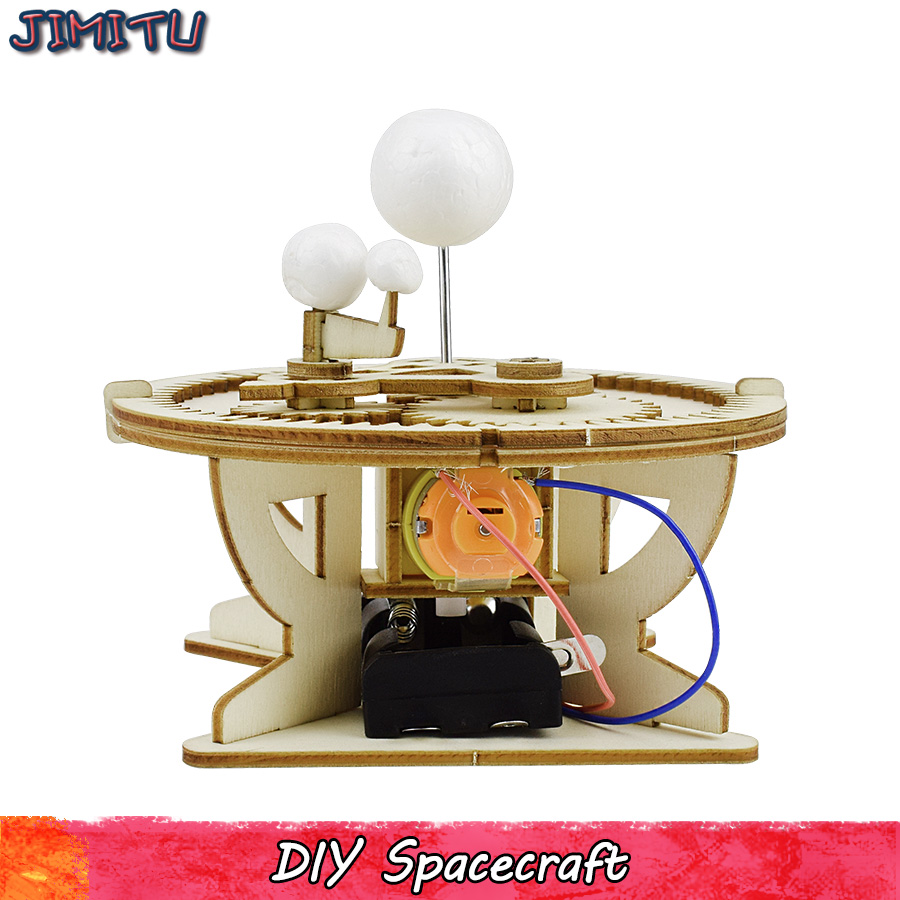 Universe Planet Motion DIY Kits Toys For Children Electric Assembly Model Kit Simulation Instrument Experiment Education Gifts