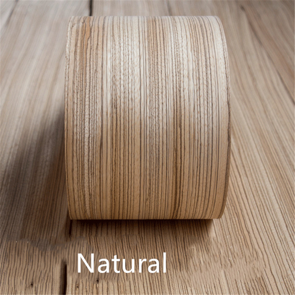 2x Natural Genuine Zebra Wood Veneer For Furniture Audio Veneer About 15cm X 2.5m 0.4mm Thick Q/C