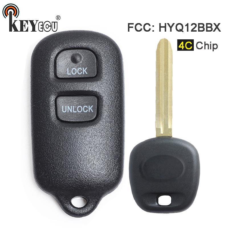 KEYECU 4C Chip HYQ12BBX HYQ12BAN HYQ1512Y Replacement 2+1 3 Button Remote Car Key Fob for Toyota Highlander Prius 2001 2002 2003